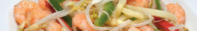 Peixes e camarões