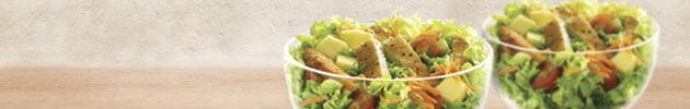 Saladas e vegetariano