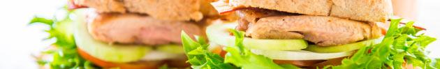 Sanduíches filé de frango