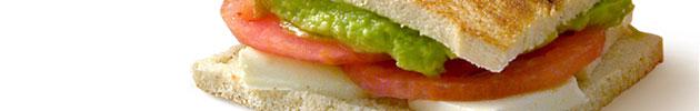 Sándwiches livianos fresco