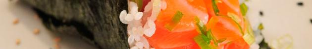 Temakis (conos con alga nori y arroz, relleno variado)