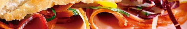 Sándwiches en pan ciabatta