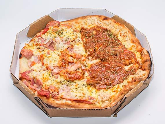 Pizza especial média - frango à bolonhesa