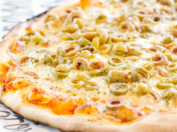 Pizzeta con mozzarella con 1 gusto a elección