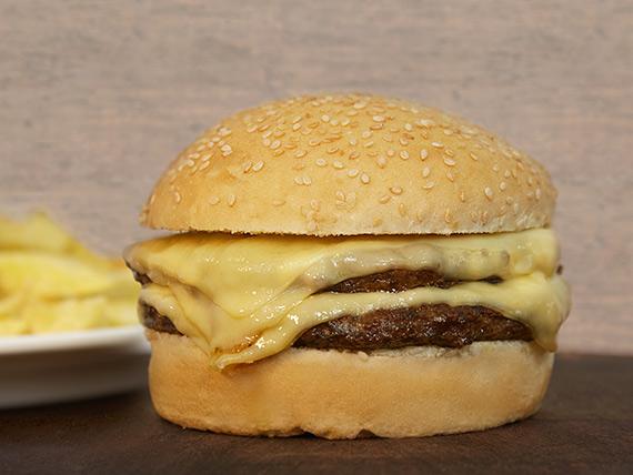 Hamburguesa doble carne y doble queso
