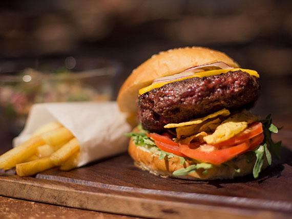 Sándwich mexicano de hamburguesa