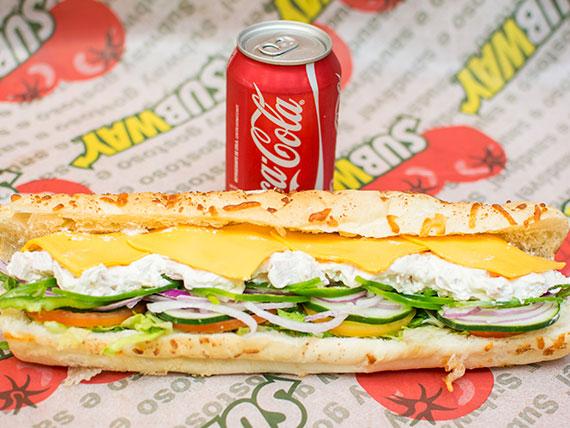 Combo sanduíche de frango defumado com cream cheese (15 cm)