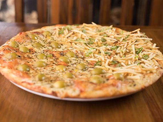 Pizza mitad y mitad común