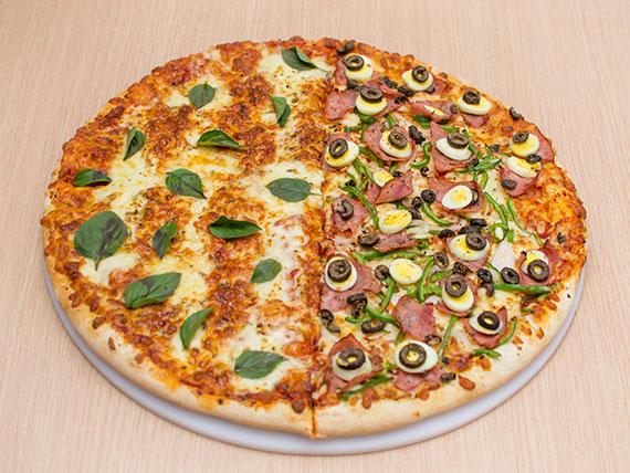 Pizza meio à meio giga