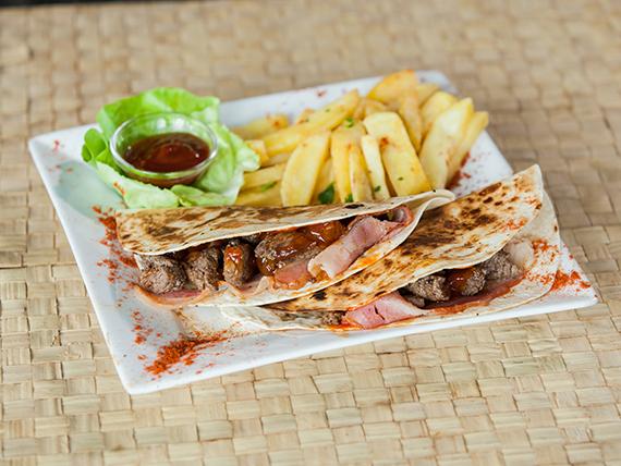 Taco barbacoa (2 unidades)