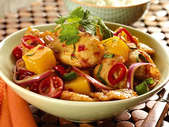 Caramel Mango Chicken